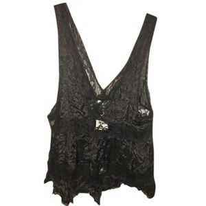 Black Intimately Sheer/Lace Tank/Cami (BNWT)
